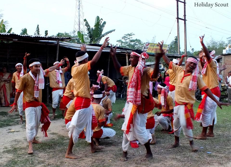 Bihu Dance during Bihu Festival, Assam