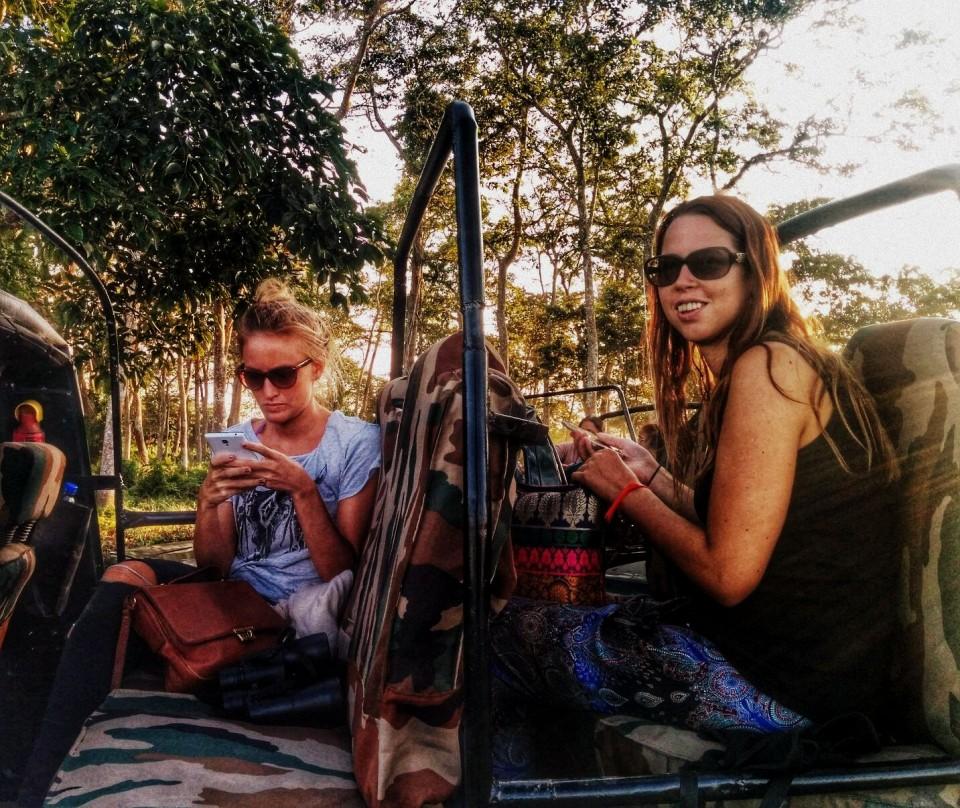 Jeep safari in Kaziranga Park, Assam