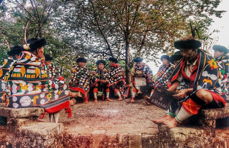 Naga Dancers in Traditional Dress
