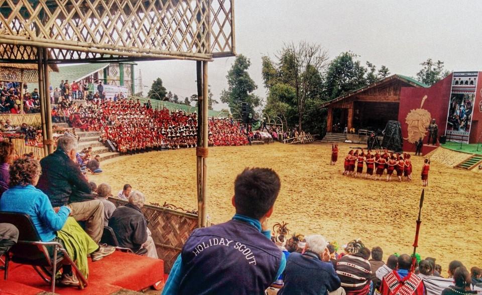 Naga Dancers prepare to perform