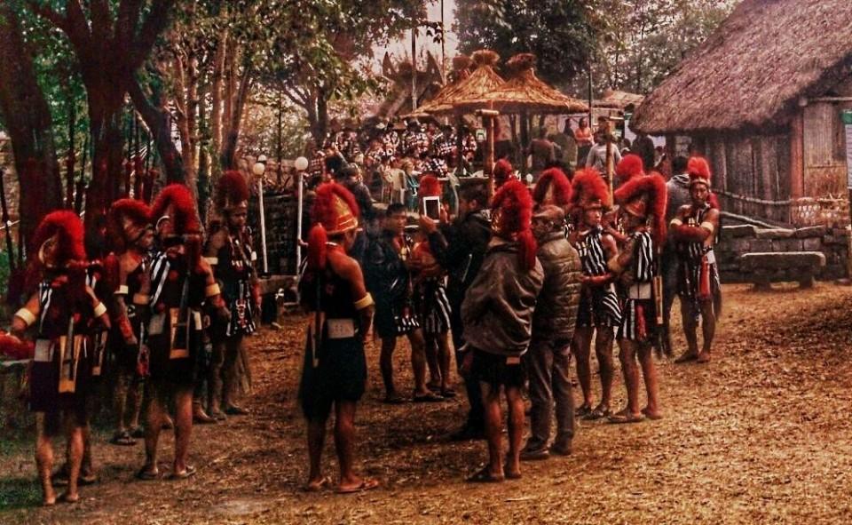 Naga Dancers with red headgear