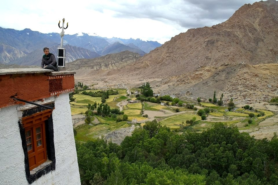 View from Likir Gompa