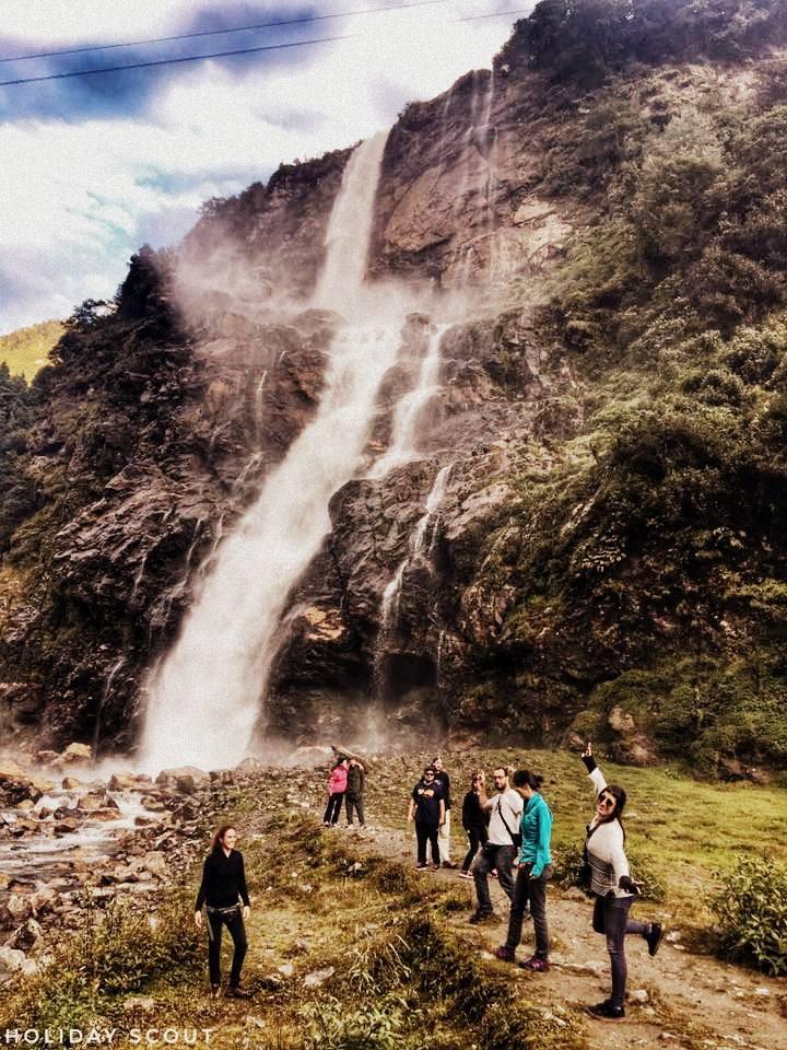 At Nuranang Waterfall