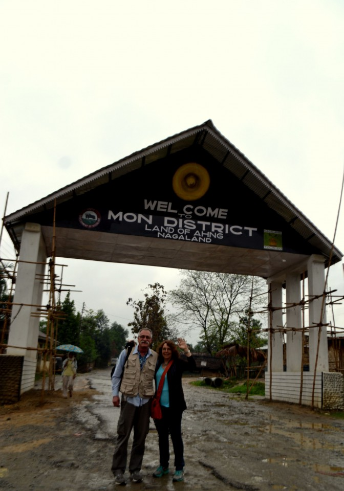 Welcome Gate in Mon, Nagaland