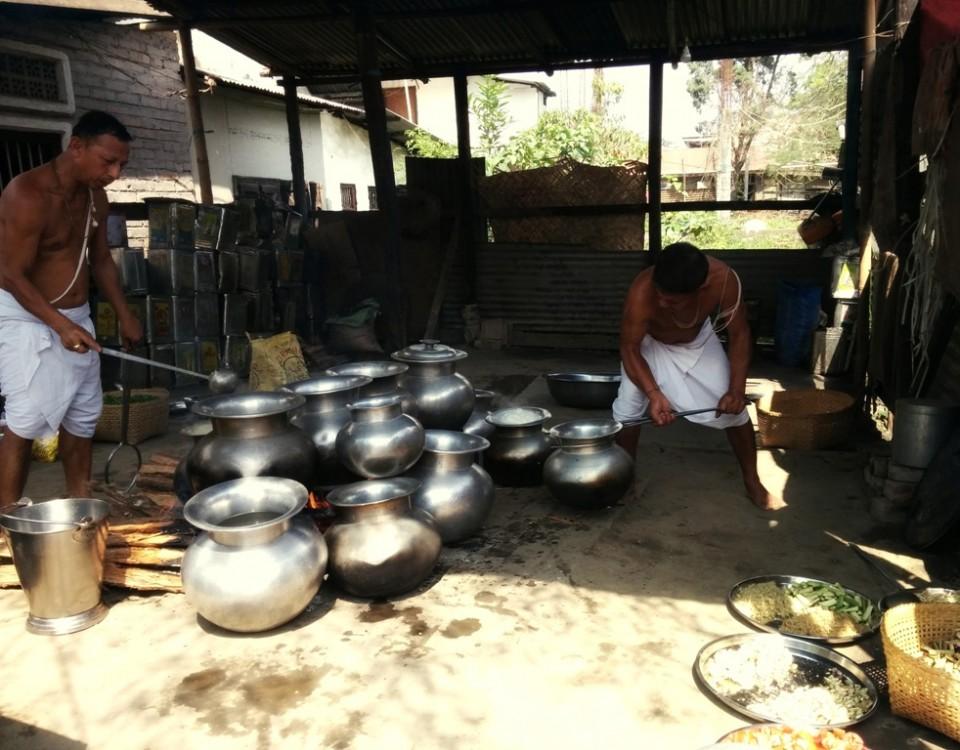 Temple Brahmins cooking